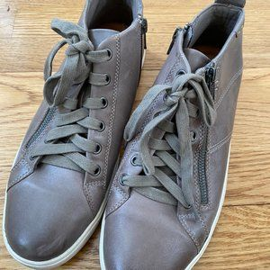 rockport zipper and lace up sneakers